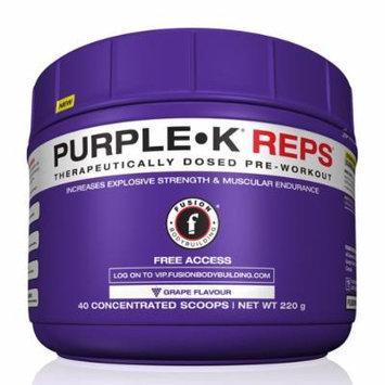 Fusion Bodybuilding Purple K Reps Grape Flavor 40 Servings