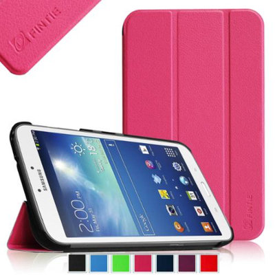 Fintie Samsung Galaxy Tab 3 8.0 Case - Ultra Slim Lightweight Stand Smart Shell Cover, Magenta