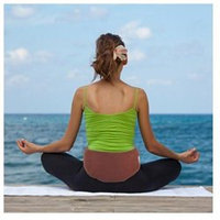 Relaxso LBWNBP Back Therapy Lumbar Wrap#44; Natural Bamboo Cranberry
