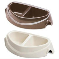 DOSKOCIL Large Double Diner Heavy-Weight Microban Pet Dish