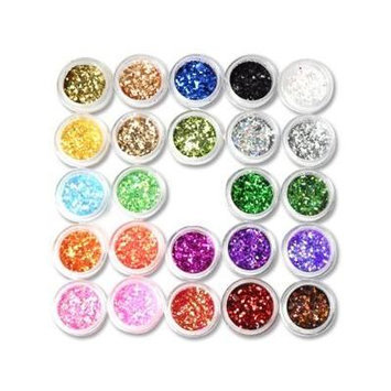 24Box Nail Art Decoration Glitter Paillette Dust Powder from Y2B