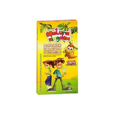 Natural Kingdom Banana Calcium & Vitamin D Kosher Dietary Supplement Chewable Bears