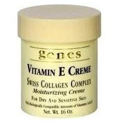 Genes Vitamin E Creme Swiss Collagen Complex (16 oz)