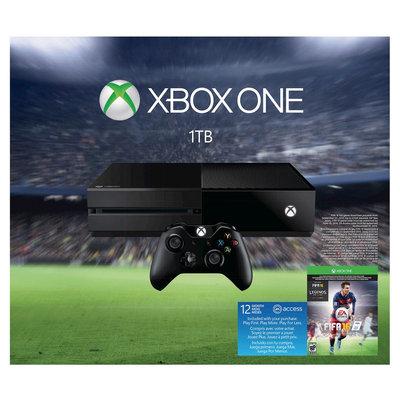 Microsoft Xbox One 1TB EA Sports FIFA 16 Bundle in Black