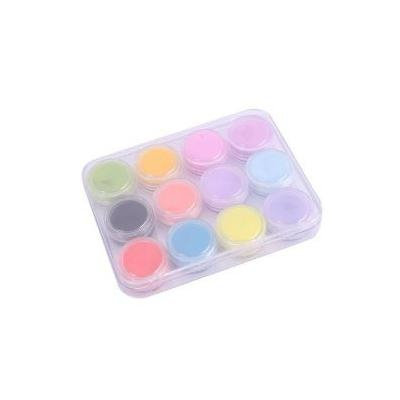 12 Mix Colors Acrylic Powder Builder Nail Art Set FROM Y2B