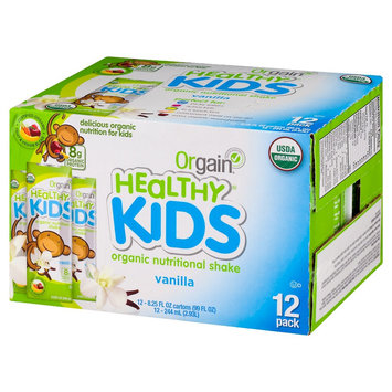 Orgain - Healthy Kids Organic Ready To Drink Meal Replacement Vanilla - 12 Pack