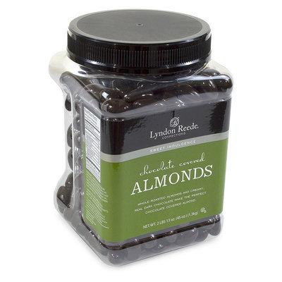 Lyndon Reede Dark Chocolate-Covered Almonds, 45-Oz Tub