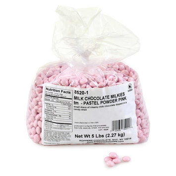 Milkies Milk Chocolates, 5-Lb Bag, Pastel Pink