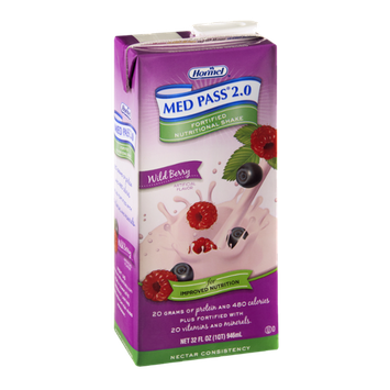 Hormel Med Pass 2.0 Fortified Nutritional Shake Wild Berry Nectar Consistency
