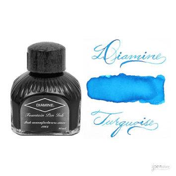 Diamine 80 ml Bottle Fountain Pen Ink, Turquoise
