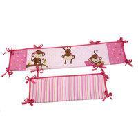 Little Bedding by NoJo 3 Little Monkeys - Portable Crib Bumper