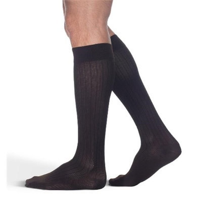Sigvaris Business Casual 189CA11 15-20mmHg Mens Business Casual Closed Toe Socks - Brown Size A