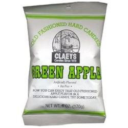 Claey's Claeys Green Apple Hard Candy - Peg Bag