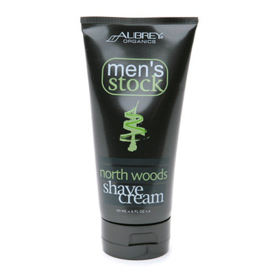 Aubrey Organics Men's Stock North Woods Shave Cream