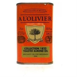 A L'Olivier Almond Oil Tin 8.3 oz