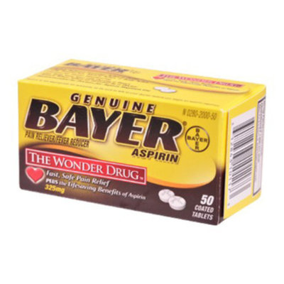 Bayer Aspirin 325 mg - Tablets, 50 ct