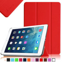 Fintie SmartShell Case Ultra Slim Lightweight Cover for iPad Mini 2 (2013 Edition) and Mini (2012 Edition), Red