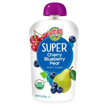Earth's Best Organic 3.5 oz. Super Cherry Blueberry Pear Fruit Puree