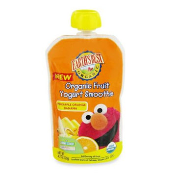 Hain Celestial Earth's Best Organic Fruit Yogurt Smoothie Pineapple Orange Banana - 4.2 Ounce