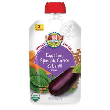 Hain Celestial Earth's Best World Foods Eggplant Spinach Carrot & Lentil - 3.5 oz