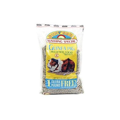 Sunseed Sun Seed Company SSS13806 Guinea Pig Pellets 6lb - 6 Pieces