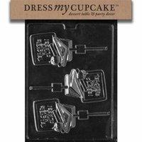 Dress My Cupcake DMCJ086 Chocolate Candy Mold, Teacher Lollipop