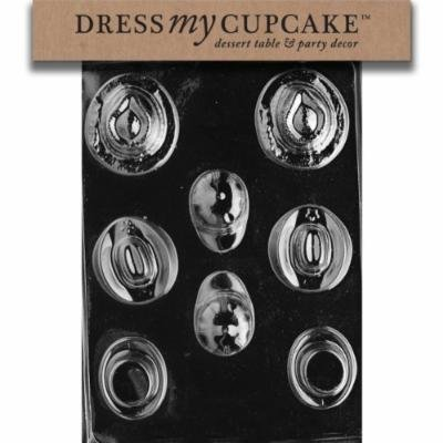 Dress My Cupcake DMCD024 Chocolate Candy Mold, Hats Assortment
