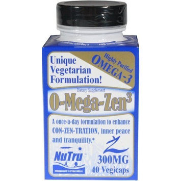 O-mega-zen 3. Highly Purified Omega 3. Vegetarien. Nutru, [40 veg. caps]