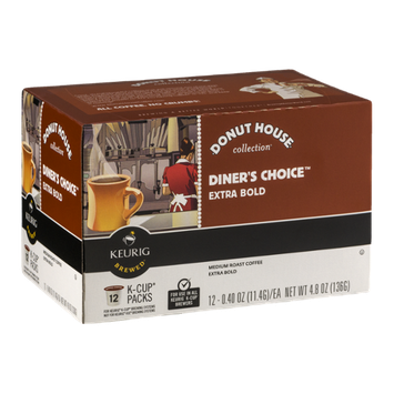 Donut House Collection Diner's Choice Extra Bold Medium Roast Coffee K-Cup Packs - 12 CT