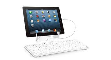 Macally keyboard for iPad White