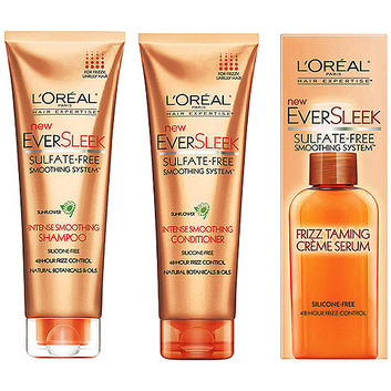 L'Oréal Paris Ever Sleek Sulfate Free Intense Smoothing Haircare Regimen Bundle