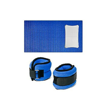 CTA Wii Yoga Mat and Ankle and Wrist Weights Set for Wii Fit