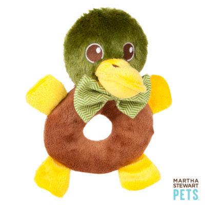 Martha Stewart PetsA Plush Duck Ring Dog Toy