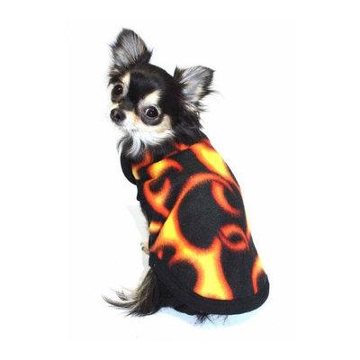 Hip Doggie Flame Polar Fleece Vest, Size: S