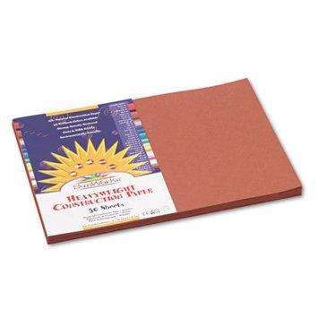 Sunworks SunWorks Construction Paper, Heavyweight, 12 x 18, Brown, 50 Sheets