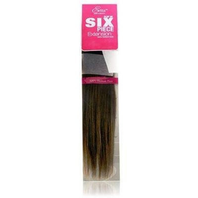 Evita 100% Human Hair Six Piece Clip In Extension 18 Inch Color 1