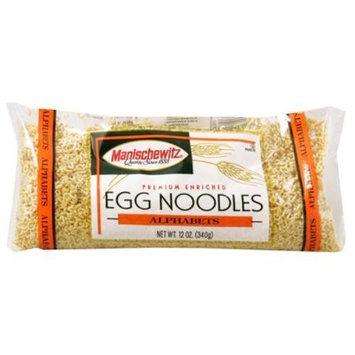 MANISCHEWITZ Alphabets Egg Noodles, 12-Ounce Bags (Pack of 12)