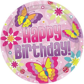 Hanna K Signature Hanna K. Signature 93012 10 in. Birthday Butterfly Paper Plate - 720 Per Case