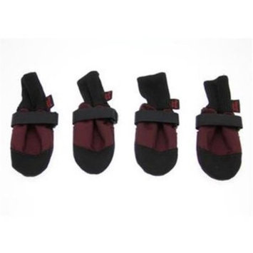 Digpets Muttluks Woof Walkers Burgundy Dog Boots X-Large