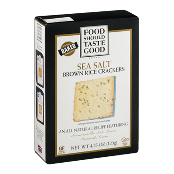 Food Should Taste Good Brown Rice Crackers Sea Salt