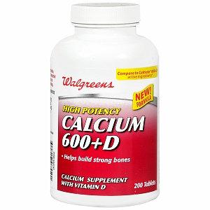 Walgreens Calcium 600+D Tablets