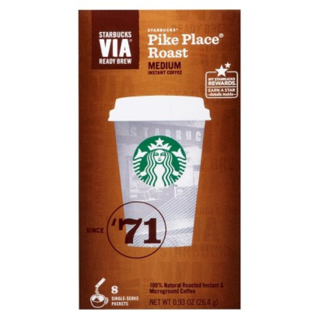 Starbucks Via Coffee Pike Place Roast 8 ct