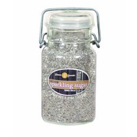 Dean Jacob's Dean Jacobs Silver Sparkling Sugar-Glass Jar with Wire, 7.8-Ounce (Pack of 3)