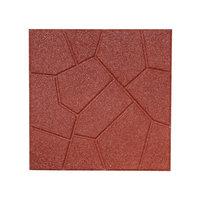 Rubberific 16-in W x 16-in L Red Rubber Square Patio Stone (Actuals 16-in W x 16-in L) LPVRD