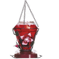 Perky-pet Birdscapes 702 Blossom Edition 24-Ounce Glass Hummingbird Feeder