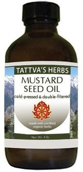 Mustard Seed Oil Tattva's Herbs LLC. 16 oz Oil
