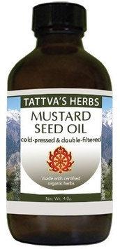 Mustard Seed Oil Tattva's Herbs LLC. 16 oz Oil