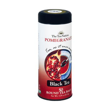 The Tea Nation Pomegranate Black Tea Round Bags - 50 CT