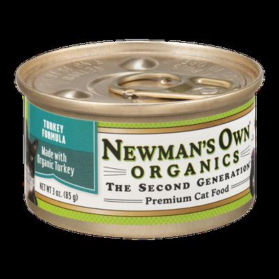 Newman's Own Organics Premium Cat Food Turkey Formula