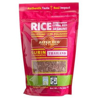 Alter Eco Fair Trade Rice, Coral Red Jasmine, 16-Ounce Pouches (Pack of 8)